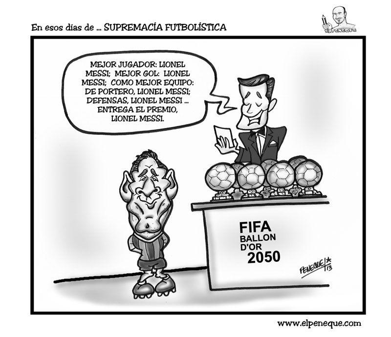 En esos días de ... SUPREMACÍA FUTBOLÍSTICA   EL PENEQUE   HUMOR GRÁFICO & CARICATURAS