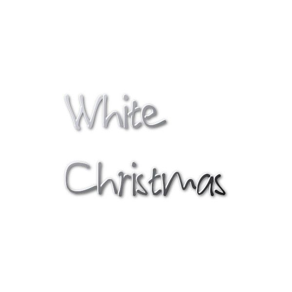 Cool Text: White Logo Design ❤ liked on Polyvore featuring text, christmas, words, quotes, phrase and saying