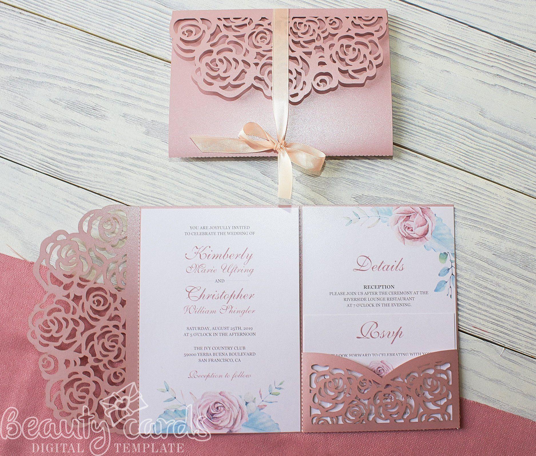 Pin On Ideas De Boda Al Aire Libre Tri fold wedding invite template
