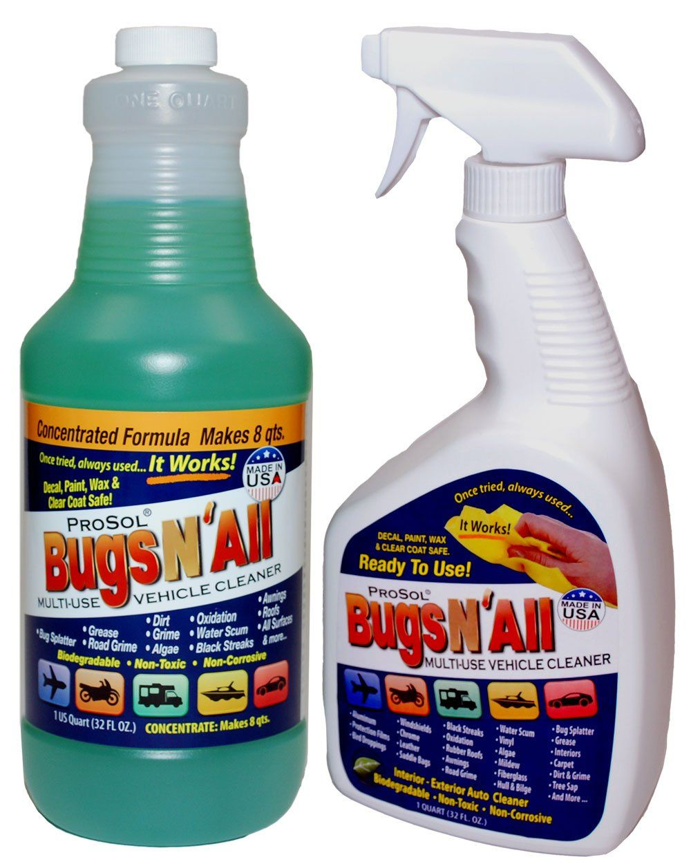 Bugs n all professional strength vehicle cleanerbug