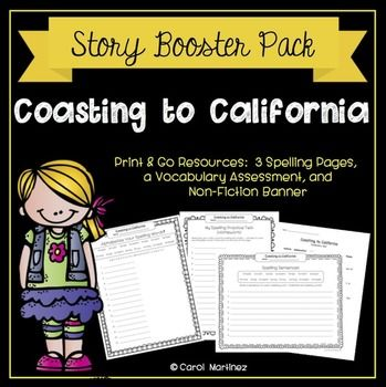 Coasting To California Story Booster Pack Treasures Reading Third Grade Reading Reading Series