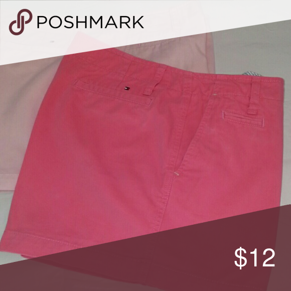 Tommy Hilfiger short 4 inch chino short. Flamingo pink. Good condition Tommy Hilfiger Shorts