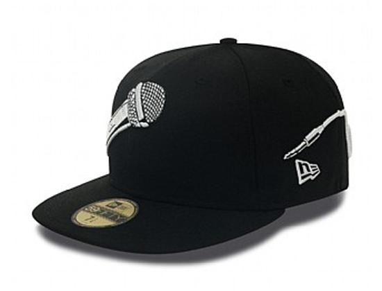 eb7d2560b1e05 Microphone Wrap 59Fifty Fitted Baseball Cap by NEW ERA