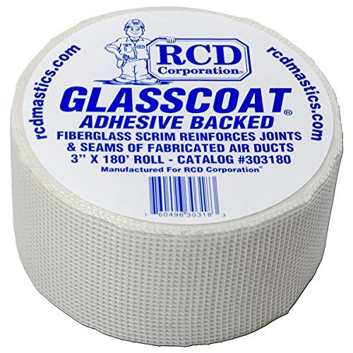 9 95glasscoat Adhesive Backed Fiberglass Mesh 3 X 180 Rcd Fiberglass Mesh Air Ducts Pressure Sensitive Adhesive