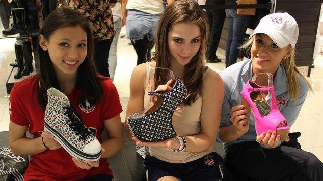 Shopping with Nastia, McKayla, and Kyla - Gymnastics ...