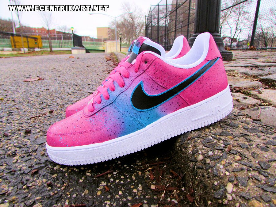 "Nike Air Force 1 ""Miami Nights"" Custom By  ecentrikshoeart ...  1bdaa7bad233"