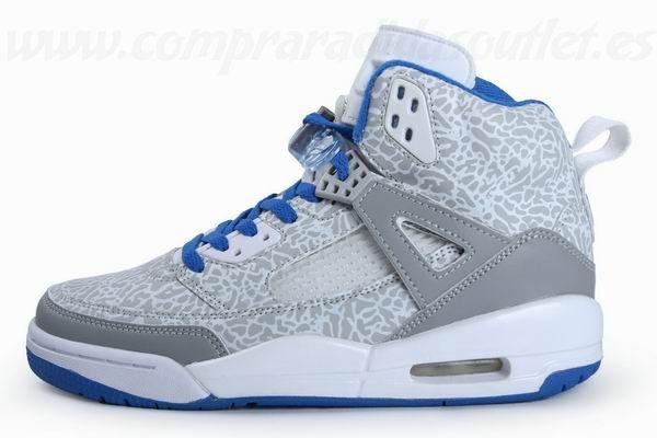 jordan azules con gris