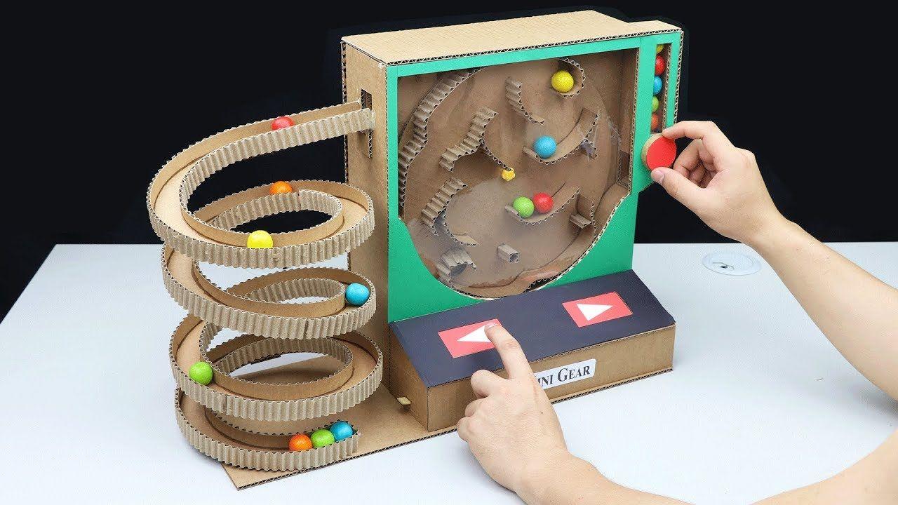 Wow! Amazing DIY Gumball Game Machine from Cardboard