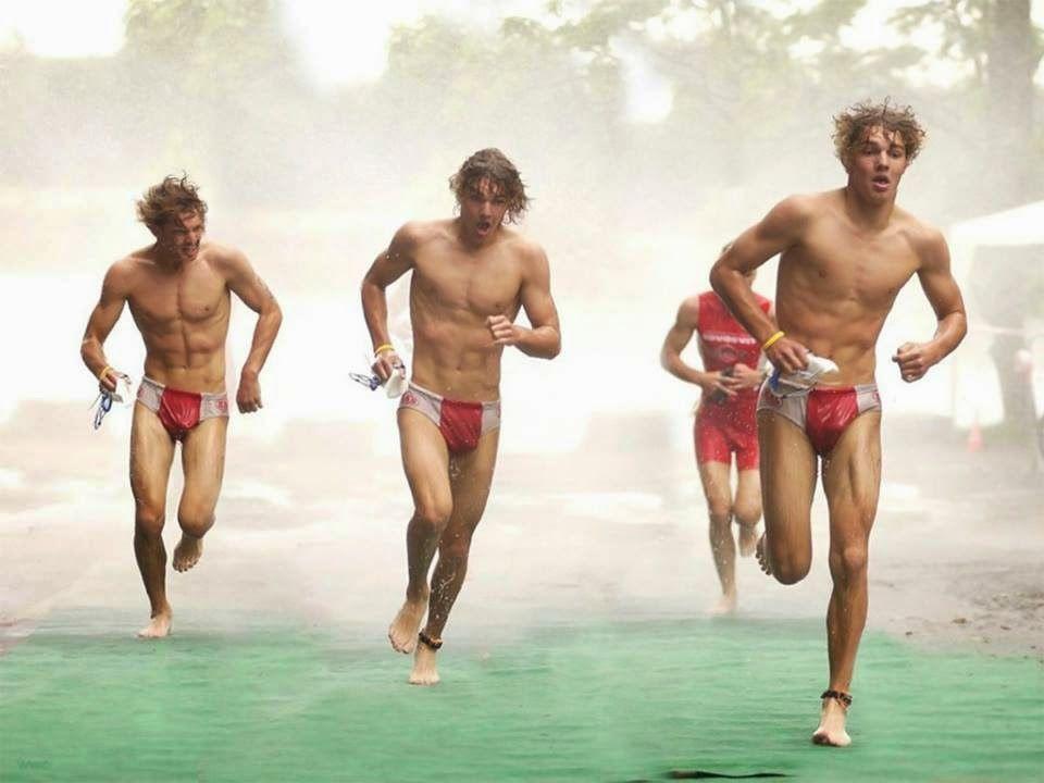 Naked Boys Running