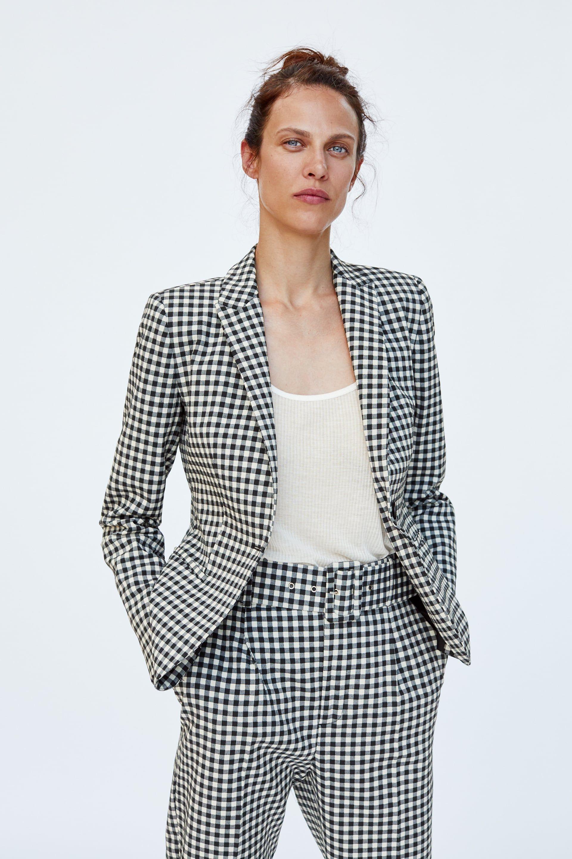 mejor variedad de diseños y colores diversos estilos Imagen 3 de BLAZER CUADRO VICHY de Zara | Prendas basicas ...