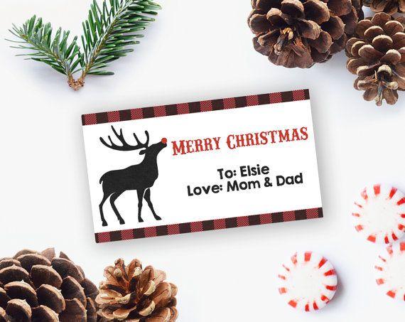 Christmas Gift Tag, Printable Christmas Gift Tag, Printable Tag, Editable Christmas gift tag, DIY Printable INSTANT DOWNLOAD   #PrintableTag #ChristmasGiftTag #EditableGiftTag #ChristmasTag #DeerGiftTag #DiyPrintable #LumberJackGiftTag #WoodlandGiftTag #GiftTag #PrintableGiftTag