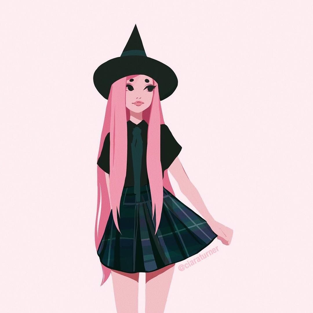 Pink Witch Witch Art Fashion Art Aesthetic Art
