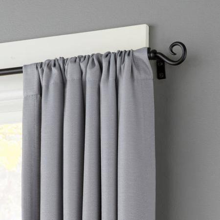 Kenney Medieval Hook 1 2 Petite Cafe Decorative Window Curtain Rod Black 28 48 Walmart Com In 2020 Decorative Curtain Rods Curtains Window Curtain Rods
