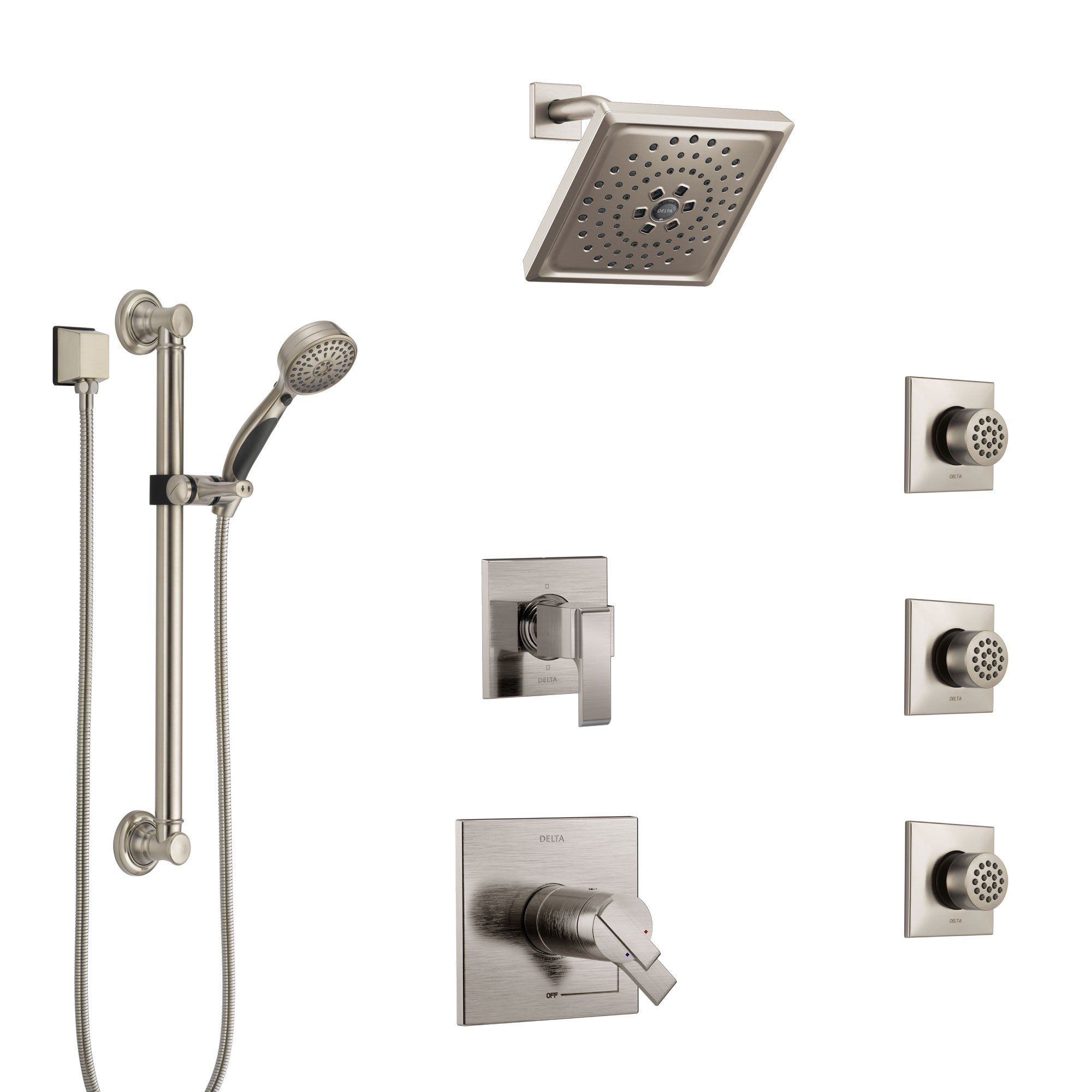 Delta Ara Dual Thermostatic Control Stainless Steel Finish Shower