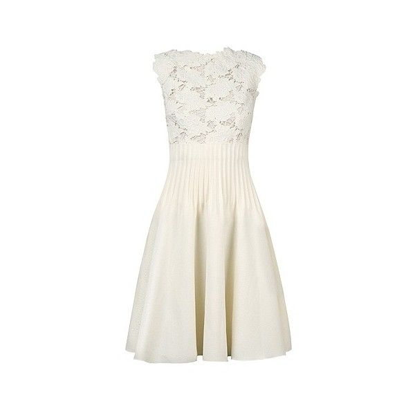 Giambattista Valli Lace Sleeveless Dress ❤ liked on Polyvore