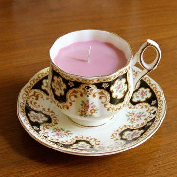 Teacup Candle Pomegranate XXVI  by Green Eyed Girl