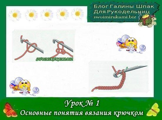фото шаблон для сайта Основные понятия вязания крючком ...