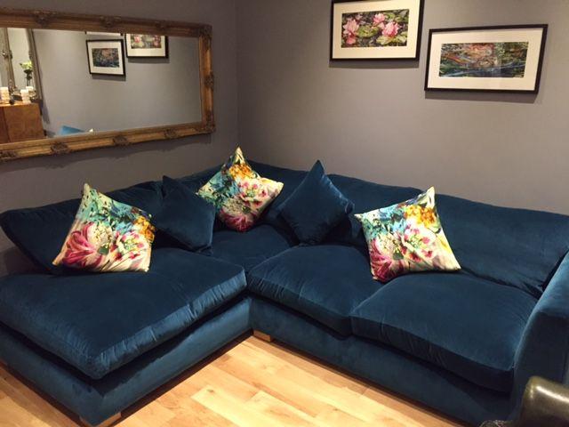 Wadenhoe Corner Unit in Warwick Plush Turmeric. This sofa in a ...