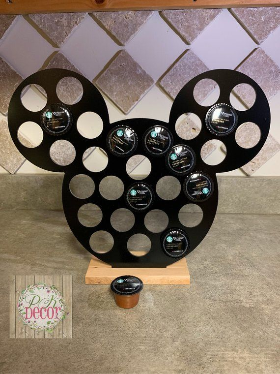 Disney Mickey Head K-Cup or Pod Holder - K-Cup Organizer - Pod Storage - Choose Color - Keurig Cup Holder - Coffee Drinker - Disney Kitchen