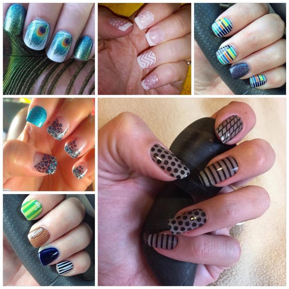 Jamberry Wraps on Acrylic Nails www.facebook.com/lovinjams www ...