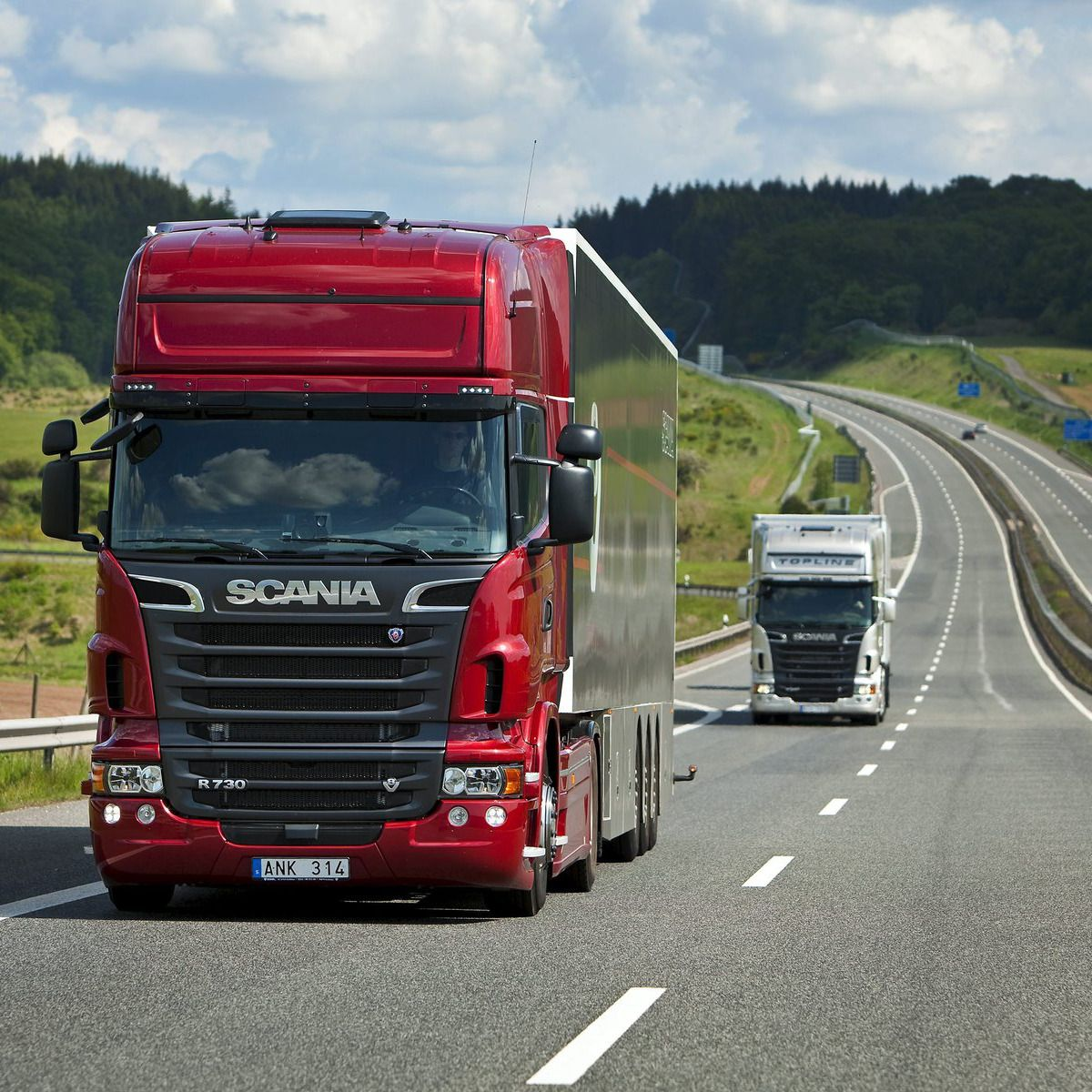 Red Trailer Scania Trucks 9358 Hd Wallpaper Pictures
