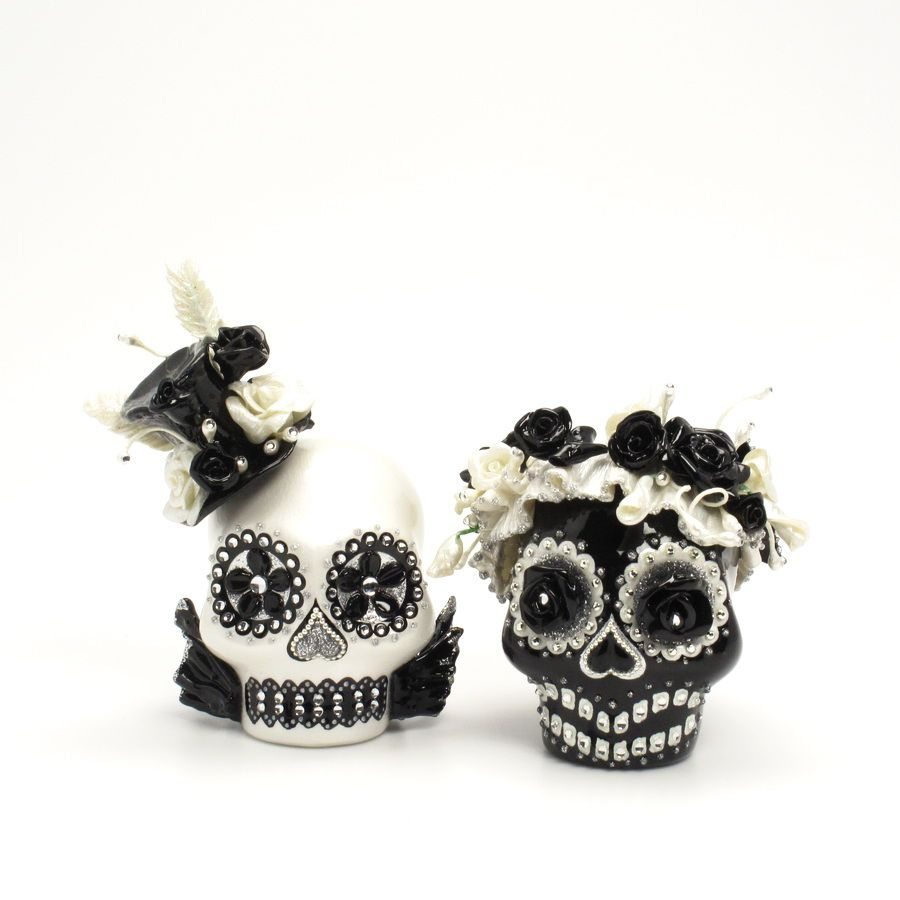 Day+of+the+Dead+Skulls | day-of-the-dead-wedding-cake-topper-mexican ...