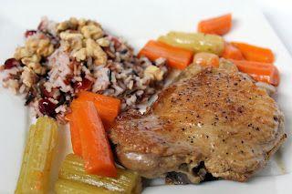 Braised Turkey with Cranberry Wild Rice