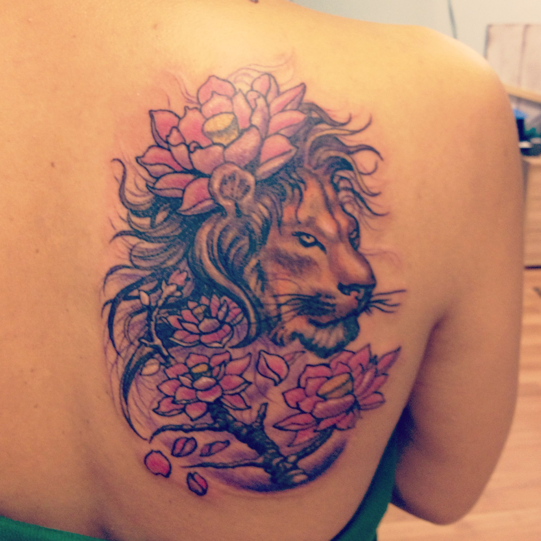 Lion tattoo Julio Reichard, Milltown,NJ Lion tattoo