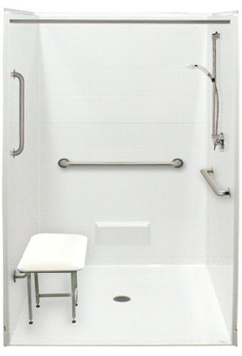 Five Piece Accessible Shower Stall