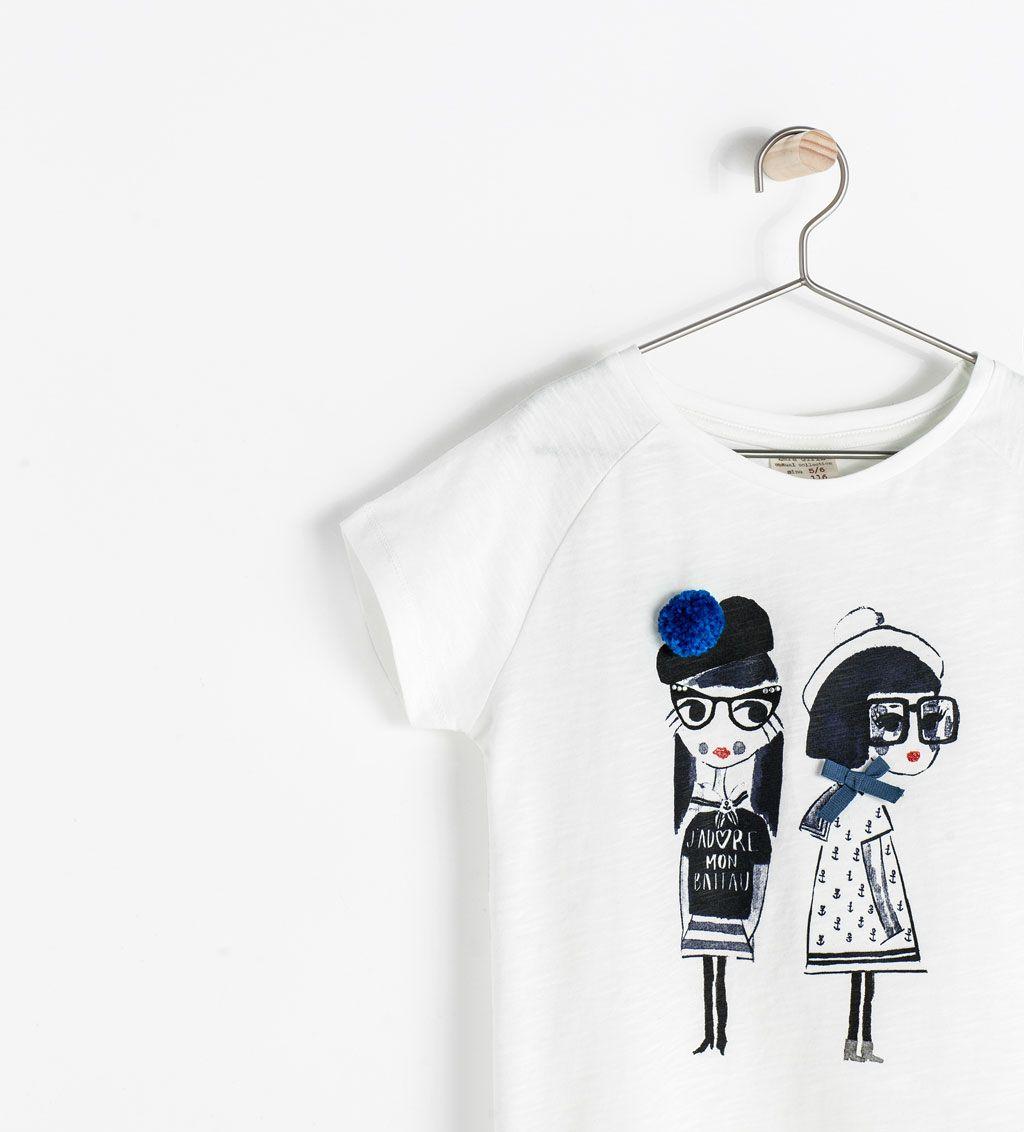 5e976c290b DOLLS PRINT T-SHIRT from Zara | hayal's wadrobe ideas | Shirts for ...
