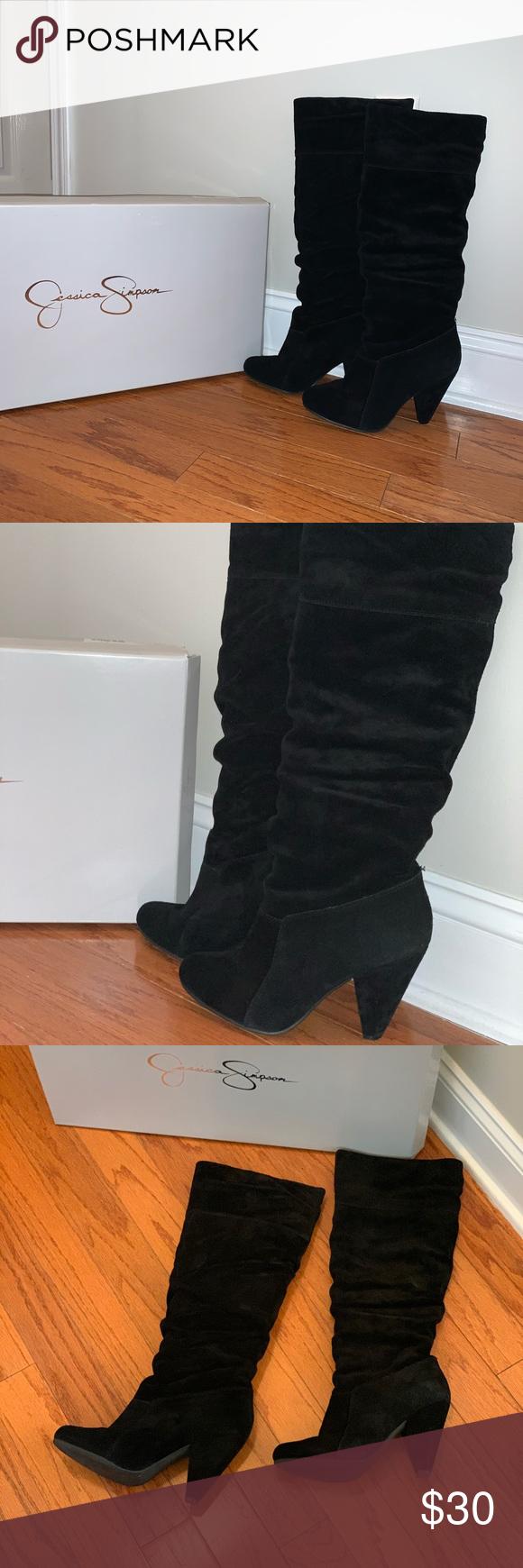 Jessica Simpson black suede boots