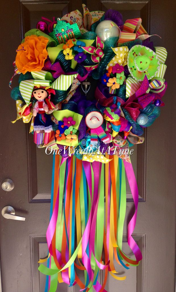 Fiesta Wreath From One Wreath At A Time Holidays
