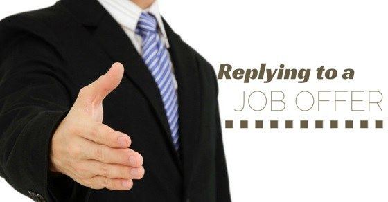 Replying to a Job Offer Best Tips to Respond Effectively #wedding - job offer