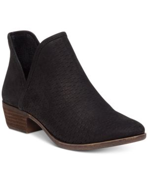 f174c15b7 Lucky Brand Baley Perforated Chop Out Booties Women Shoes | Products ...