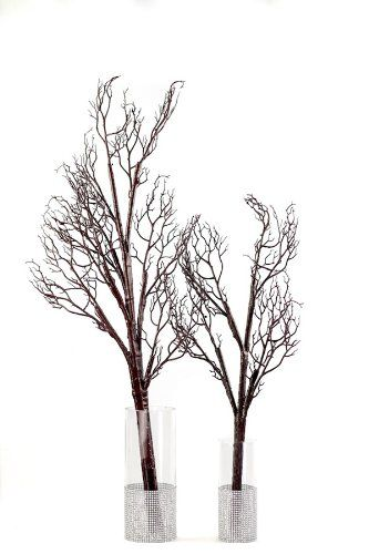 Bendable Artificial Manzanita Branches - Walnut - Large *** Click image to review more details.