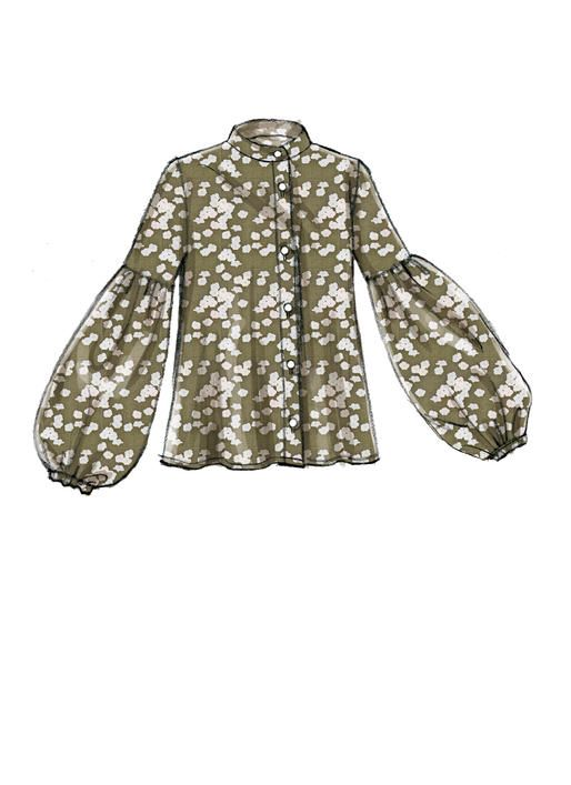 Vogue V9299 MISSES\' TOP AND BELT #sewingpattern #easytosewpattern ...
