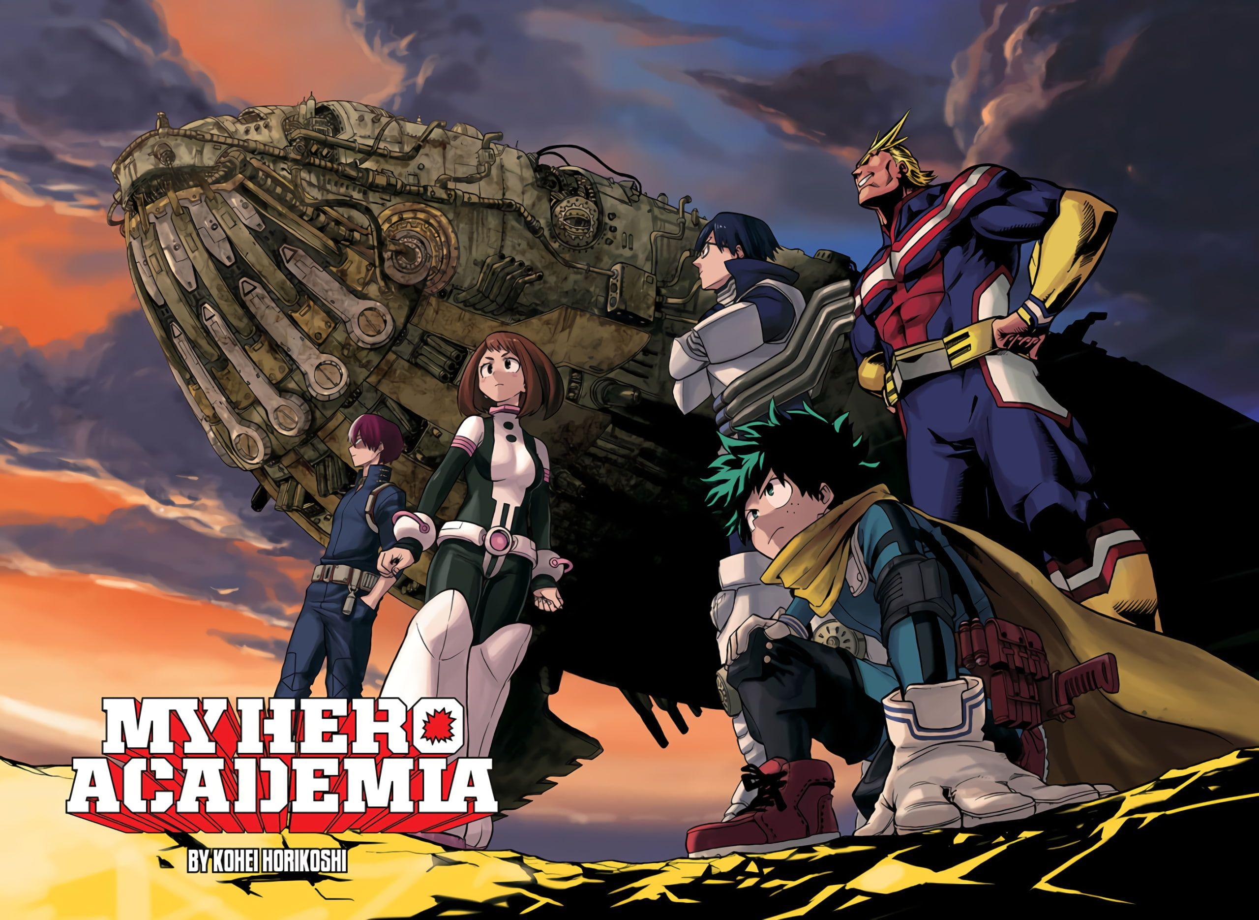 Drew All Might And Deku Bokunoheroacademia My Hero Academia Episodes My Hero Hero Wallpaper
