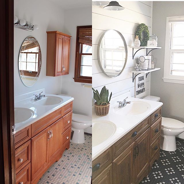 Here\'s a before and after of the master bath. It didn\'t look ...