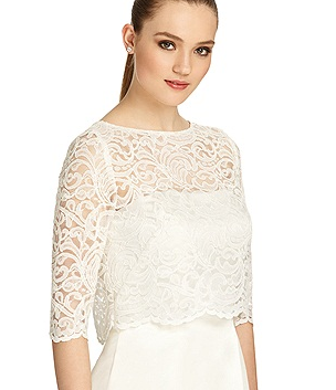 Lace cover up for the ceremony? Then take it off to reveal your ...