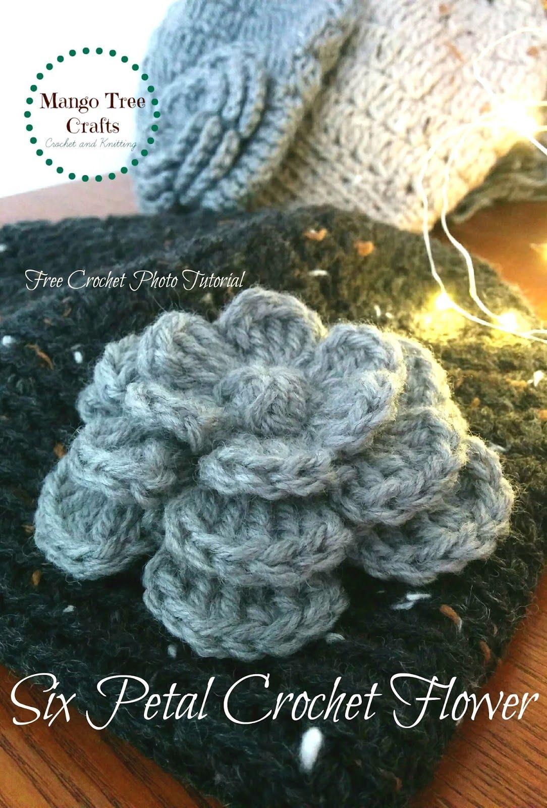 Flower Crochet Pattern This crochet flower is my to-go embellishment ...