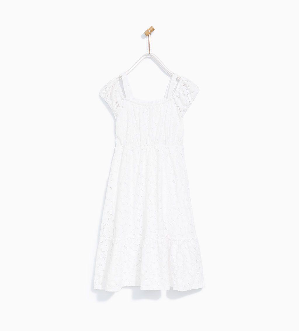 Lace trim camisole dress long zara