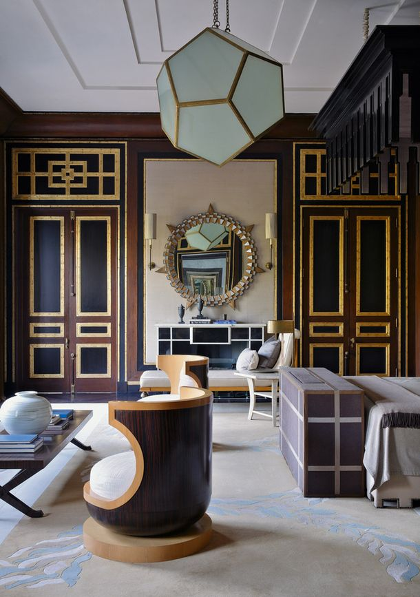 Decorator Jean-Louis Denio's interiors of a house in New Delhi #gold #details