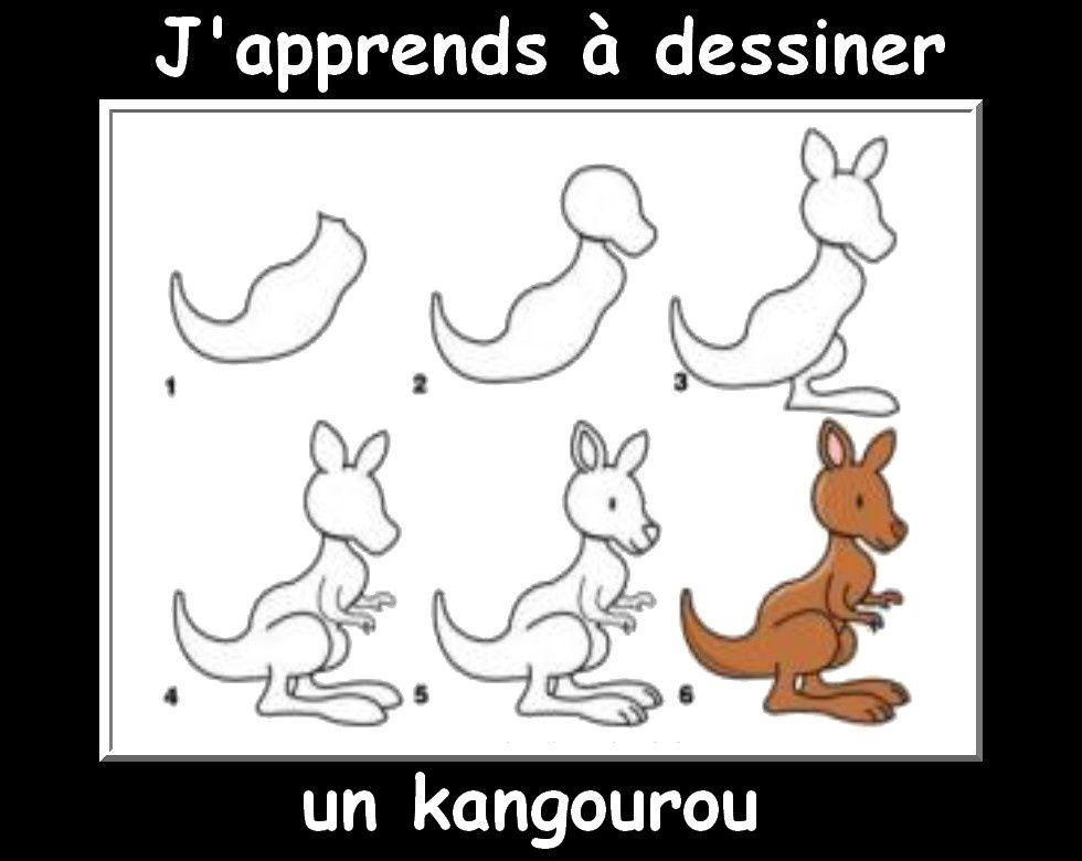 Des fiches j 39 apprends dessiner les animaux dessine moi - Dessiner un kangourou ...