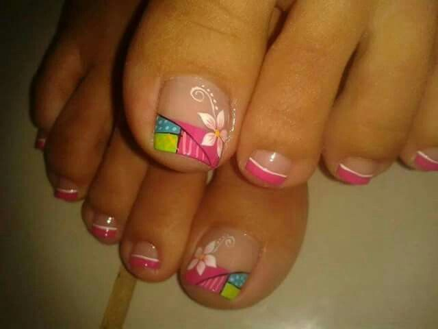 Pin de mariana Osbu en uñas decoradas | Pinterest | Uñas pies ...