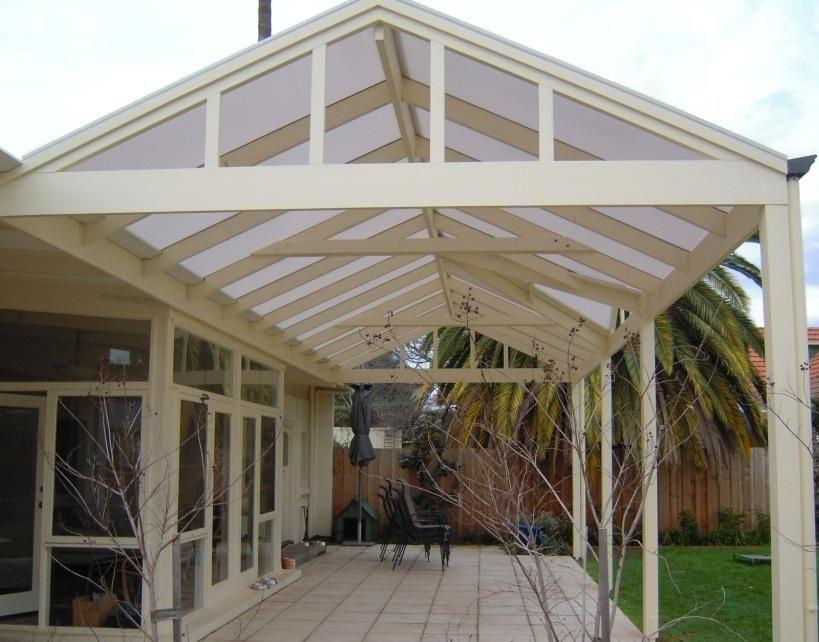 Pergolas & Decks Twin Wall Polycarbonate roofing