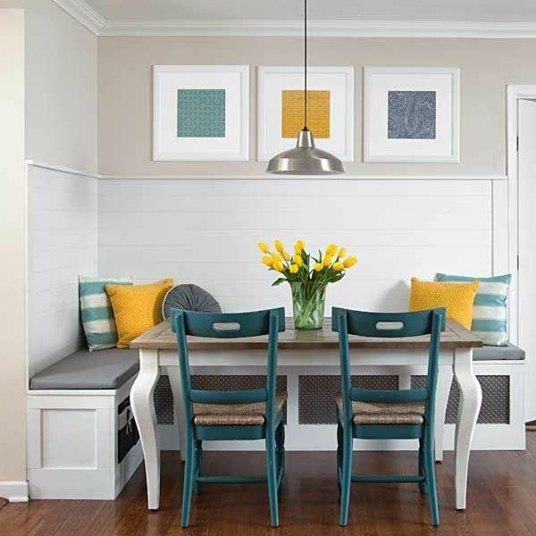 Esszimmer Eckbank+Stühle Gelb Blau ähnliche Tolle Projekte Und Ideen Wie Im  Bild Vorgestellt Werdenb