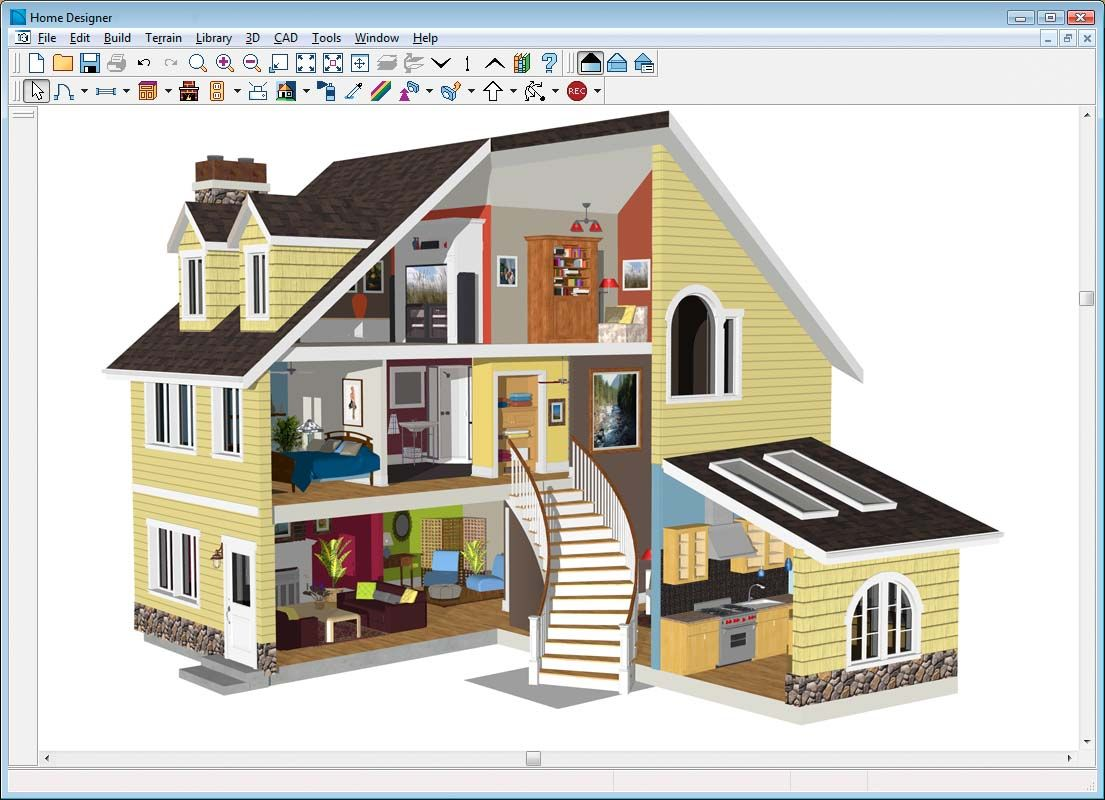 Delightful Free And Open Source Software For Architecture Cad Howshout Exterior  Virtual Home Design House Online Window