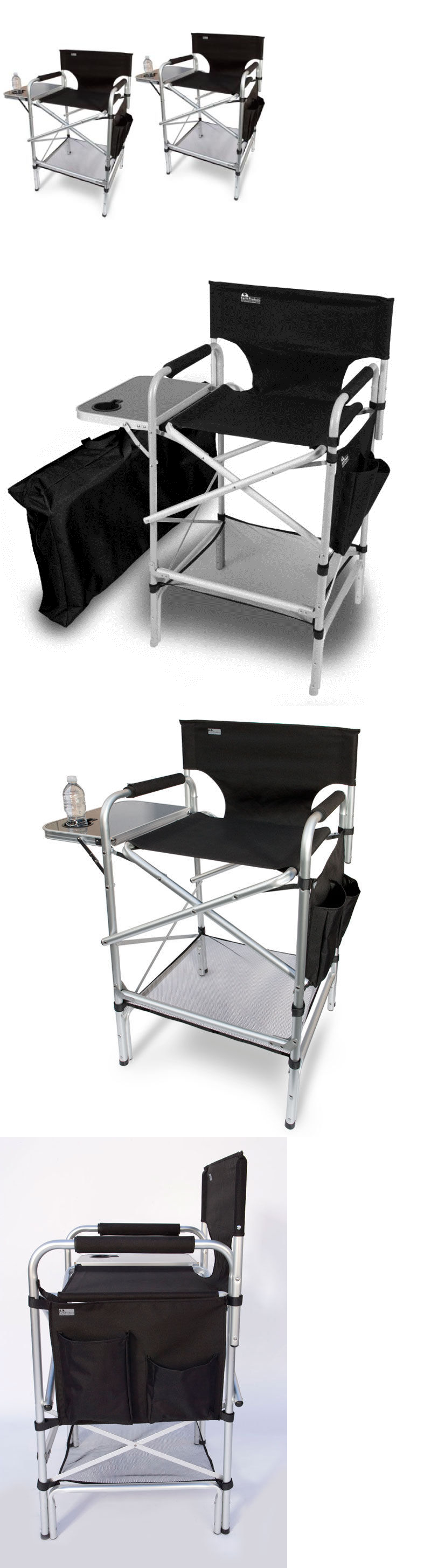 Camping Furniture Executive Vip Tall Directors Chair W Side