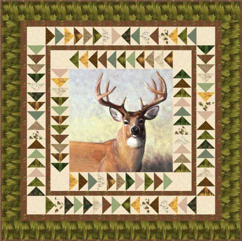 Majestic Outdoors - Majestic Deer Free Quilt Pattern | Quilting ... : deer quilt patterns - Adamdwight.com