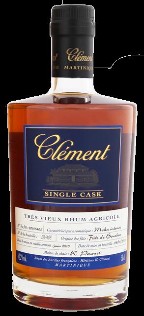 Clement Rhum Single Cask Moka Intense Botellas, Ron